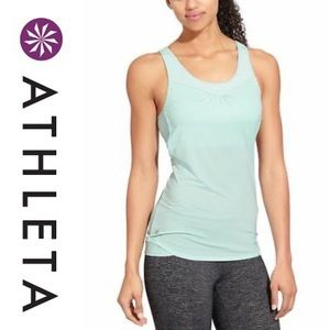 Athleta gel mesh supercharged tank sports bra med